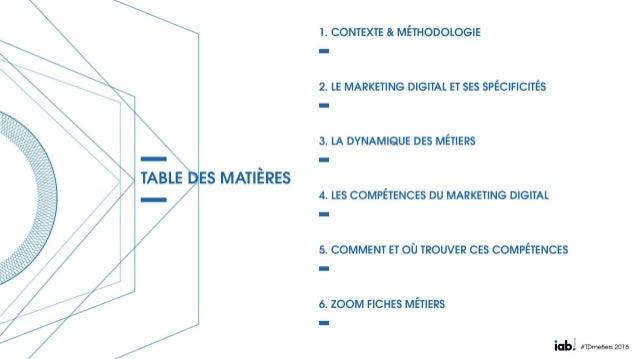 Etude Métiers et Compétences du marketing et de la communication dans un contexte de transition digitale - IAB France Slide 2