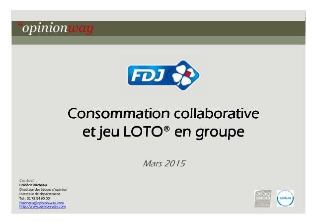 1pour ur - Le système groupe et le jeu collaboratif – Mars 2015 Consommation collaborativeConsommation collaborativeConsom...