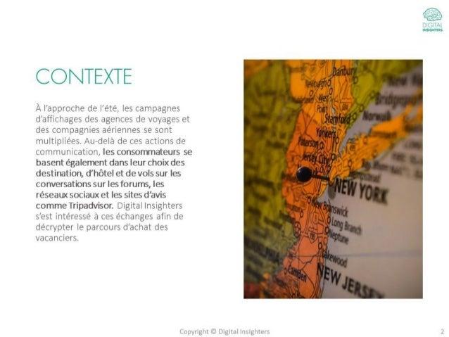 Tourisme : Etude sur le parcours d'achat des internautes Slide 2