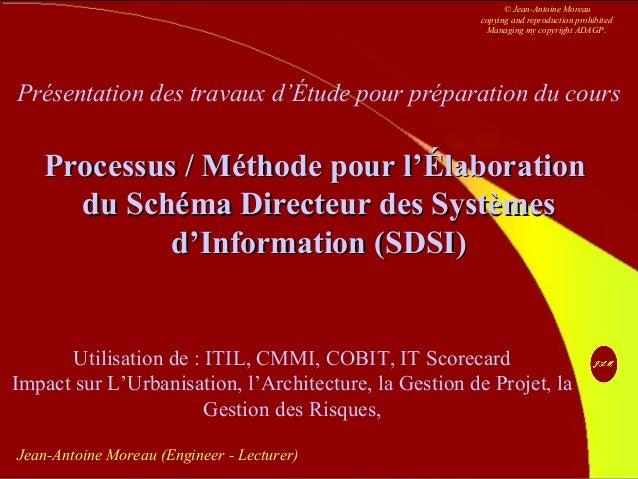 JAM 1 Contact sur http://www.jean-antoine-moreau.fr.nf Jean-Antoine Moreau (Engineer - Lecturer) Présentation des travaux ...