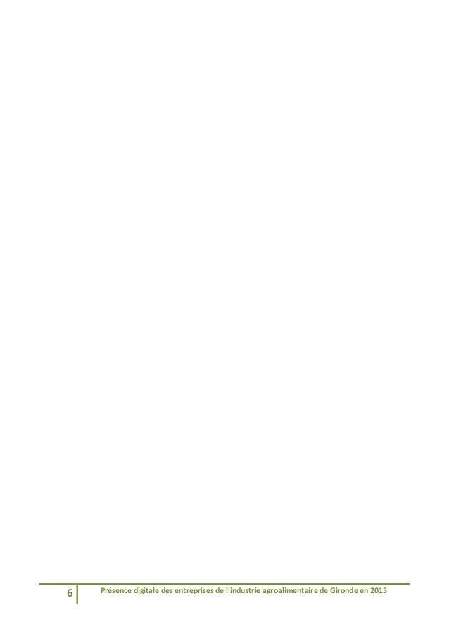 6 Présencedigitaledesentreprisesdel'industrieagroalimentairedeGirondeen2015