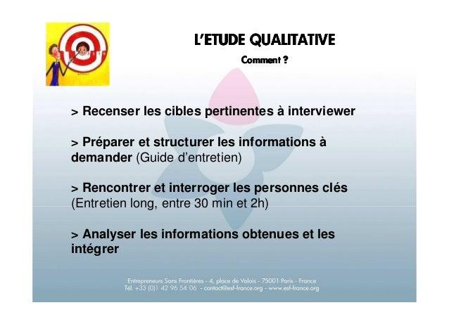 Etude qualitative en marketing stratégique