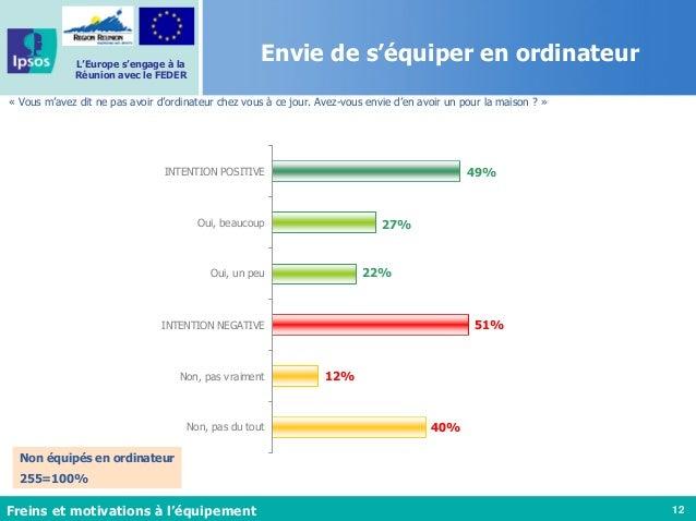 12 L'Europe s'engage à la Réunion avec le FEDER Envie de s'équiper en ordinateur « Vous m'avez dit ne pas avoir d'ordinate...