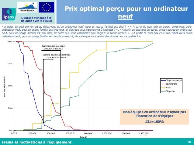 18 L'Europe s'engage à la Réunion avec le FEDER Ordinateur neuf pour usage familial - PSM Gamme de prix acceptés: 299,85 €...