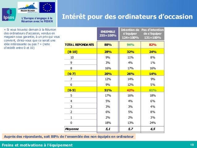 19 L'Europe s'engage à la Réunion avec le FEDER Intérêt pour des ordinateurs d'occasion « Si vous trouviez demain à la Réu...