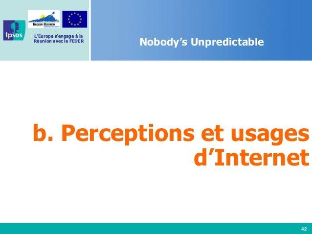42 L'Europe s'engage à la Réunion avec le FEDER Nobody's Unpredictable b. Perceptions et usages d'Internet
