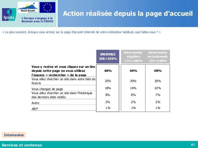 97 L'Europe s'engage à la Réunion avec le FEDER Action réalisée depuis la page d'accueil « Le plus souvent, lorsque vous a...