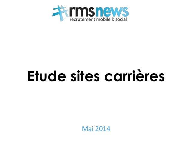 Etude sites carrières Mai 2014