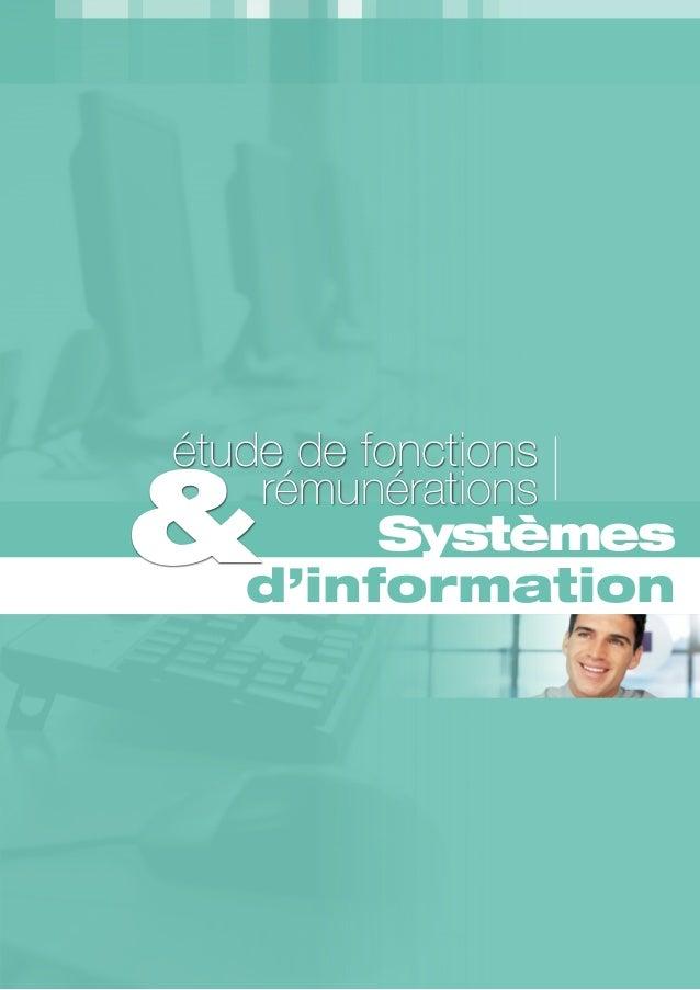 Systèmes d'information étude de fonctions &rémunérations 20112012