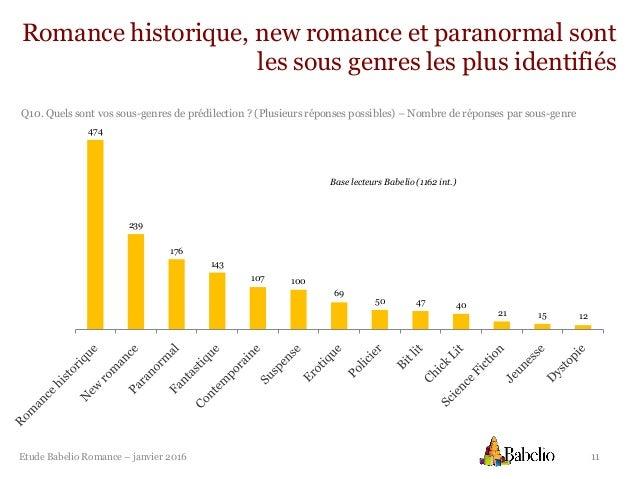 Etude Romance Babelio