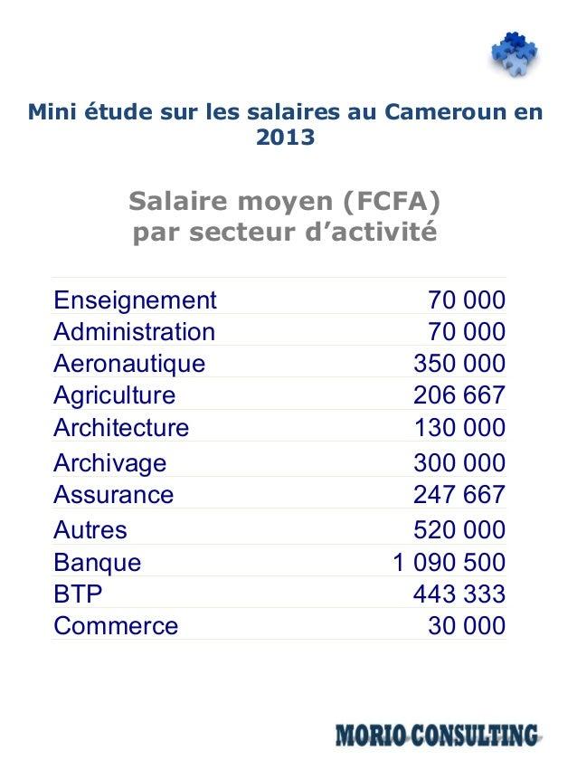 Mini Etude Salariale 2013