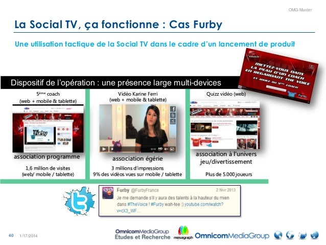 40 OMG-Master 1/17/2014 La Social TV, ça fonctionne : Cas Furby Une utilisation tactique de la Social TV dans le cadre d'u...