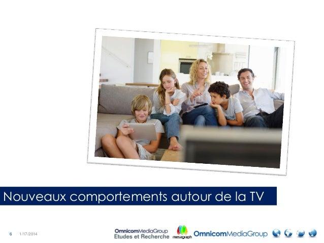 6 1/17/2014 Nouveaux comportements autour de la TV
