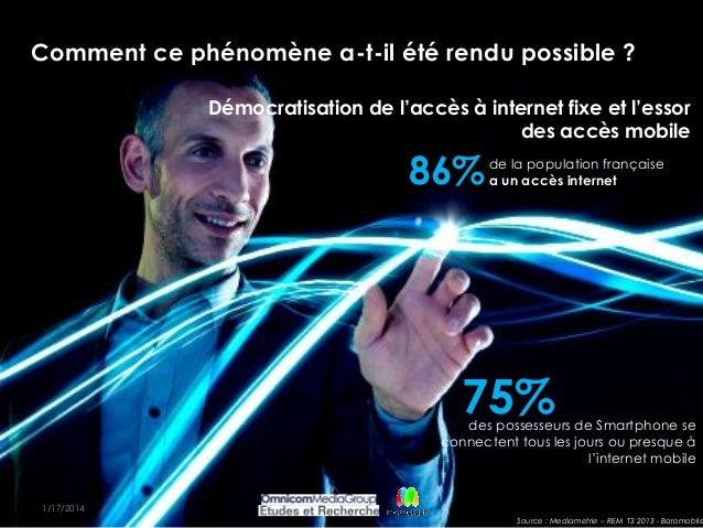 8 OMG-Master Comment ce phénomène a-t-il été rendu possible ? 1/17/2014 Démocratisation de l'accès à internet fixe et l'es...