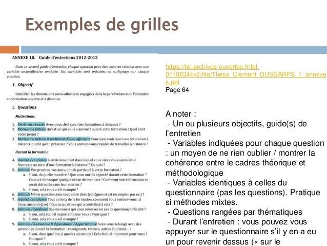 Annexe 1 Grille Entretien Modele Groupe Sister