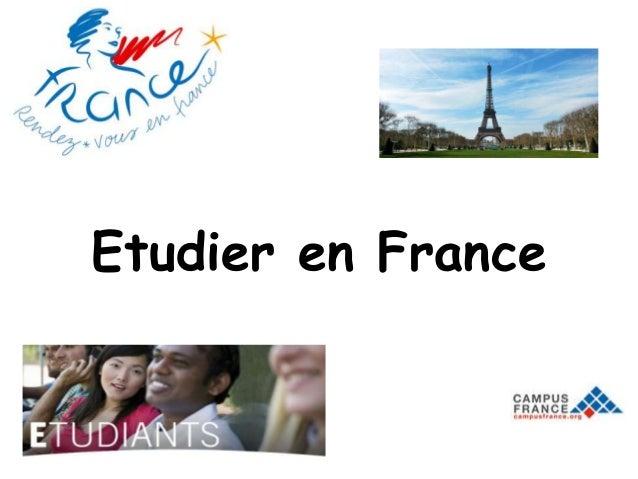 Etudier en France