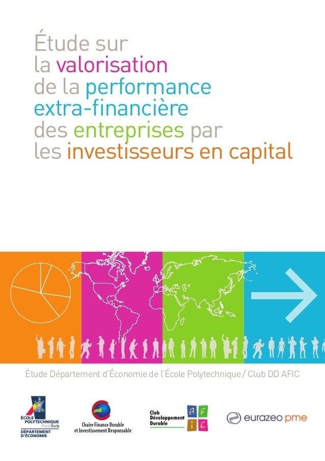 Étude sur la valorisation de la performance extra-financière des entreprises par les investisseurs en capital  Étude Départ...