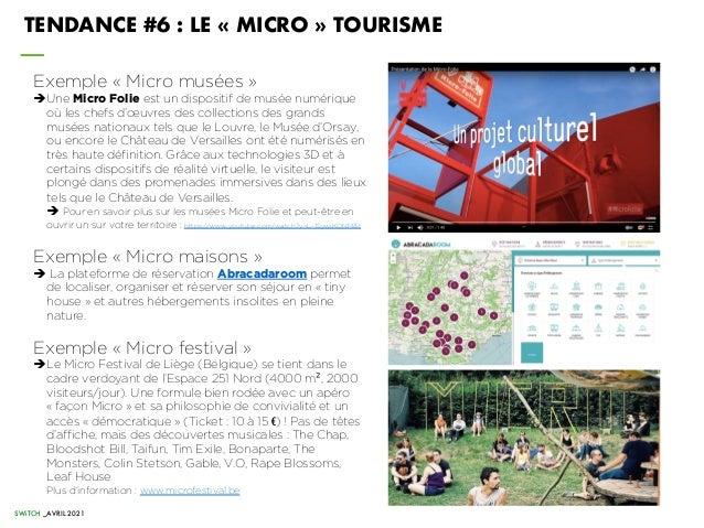 SWiTCH _AVRIL 2021 Exemple « Micro musées » èUne Micro Folie est un dispositif de musée numérique où les chefs d'œuvres de...