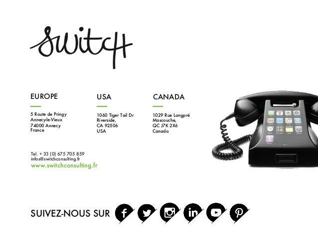 Tel. + 33 (0) 675 705 859 infos@switchconsulting.fr www.switchconsulting.fr SUIVEZ-NOUS SUR 5 Route de Pringy Annecy-le-Vi...