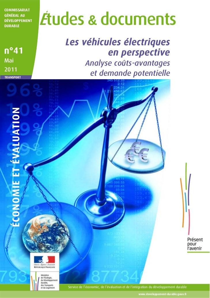 COMMISSARIATGÉNÉRAL AUDÉVELOPPEMENTDURABLE                            Études & documents                               Les...
