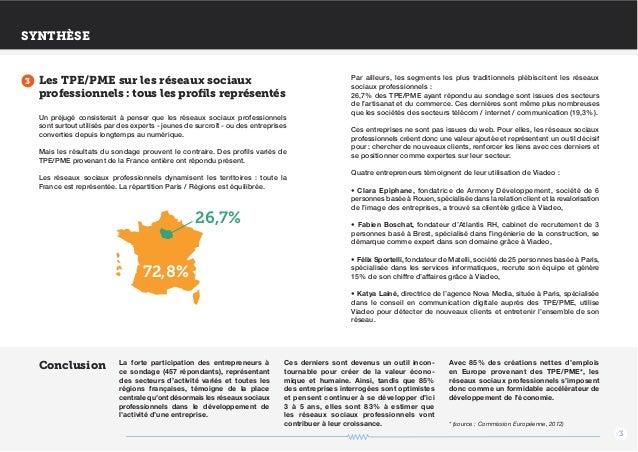 Etude Viadeo TPE PME réseaux sociaux - juillet 2013 Slide 3