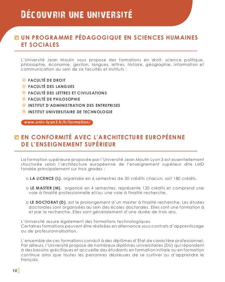 Decouvrir une universite       Un programme pédagogique en sciences humaines       et sociales       L'Université Jean Mou...