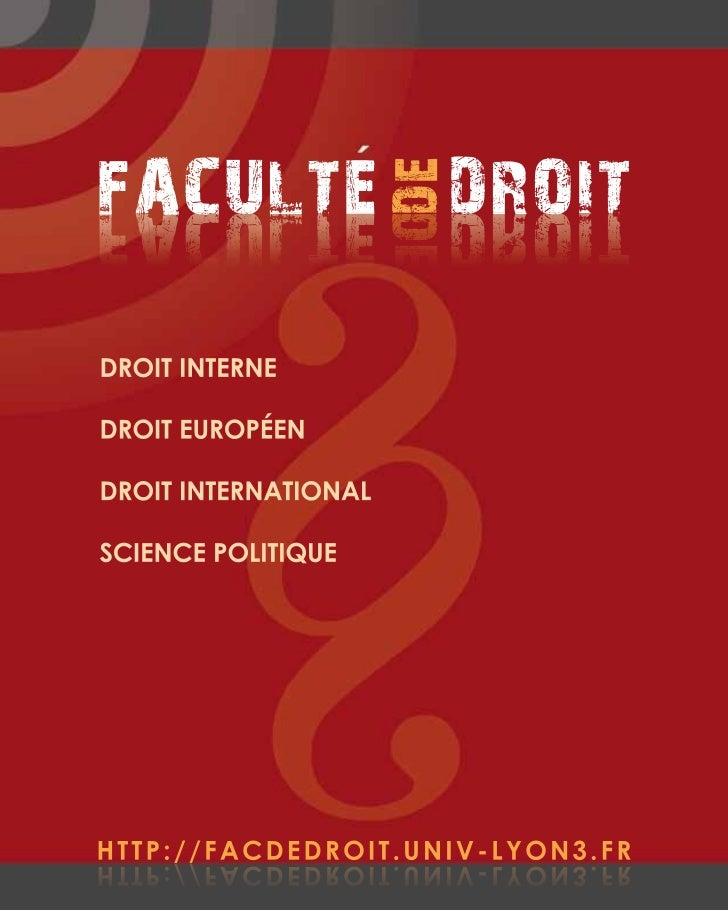FACULTE DROIT                      E DDETIORD ETLUCAFDROIT INTERNEDROIT EUROPÉENDROIT INTERNATIONALSCIENCE POLITIQUEHTTP:/...