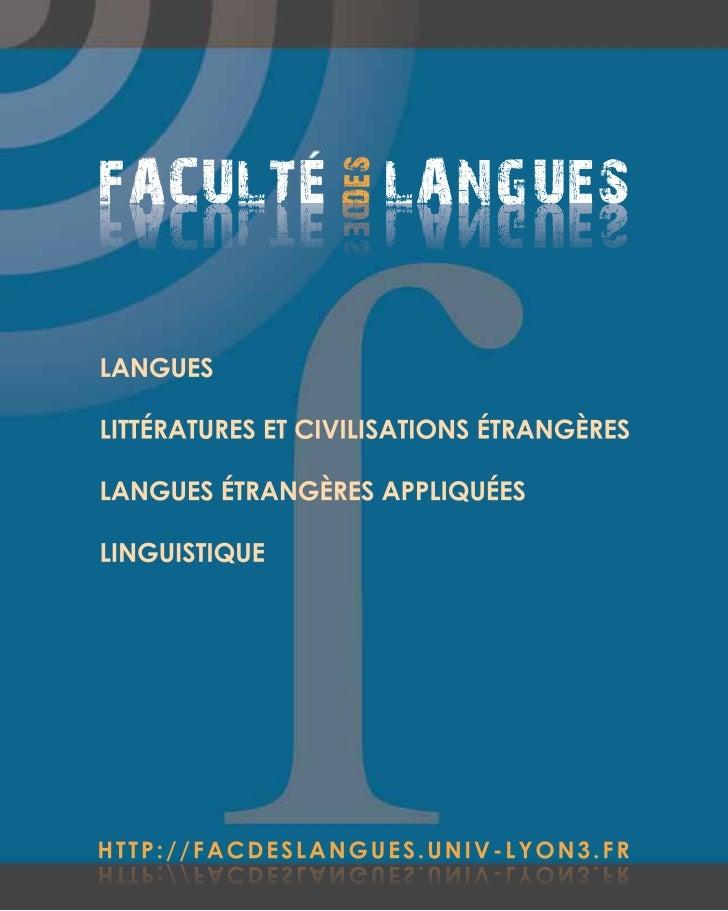 FACULTE LANGUES                  S E DDESSEUGNAL ETLUCAFLANGUESLITTÉRATURES ET CIVILISATIONS ÉTRANGÈRESLANGUES ÉTRANGÈRES ...