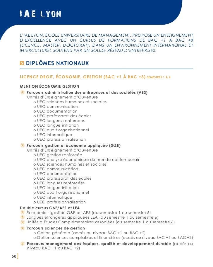 I A E lyon       L'IAE Lyon, école universitaire de management, propose un enseignement       d'excellence avec un cursus ...
