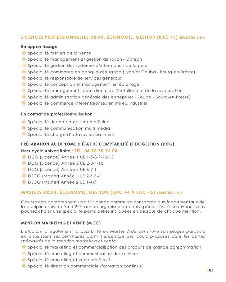 Licences professionnelles Droit, Économie, Gestion (BAC +3)                   semestres 5 et 6en apprentissage   Spécialit...