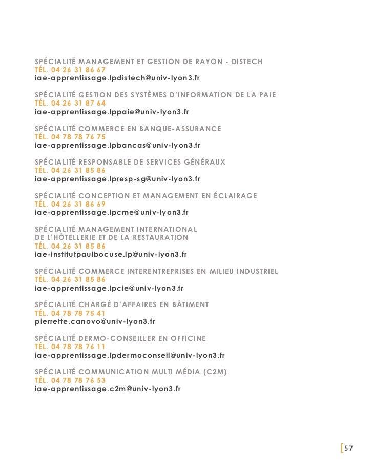 SPÉCIALITÉ MANAGEMENT ET GESTION DE RAYON - DISTECHTél. 04 26 31 86 67iae-apprentissage.lpdistech@univ-lyon3.frSPÉCIALITÉ ...