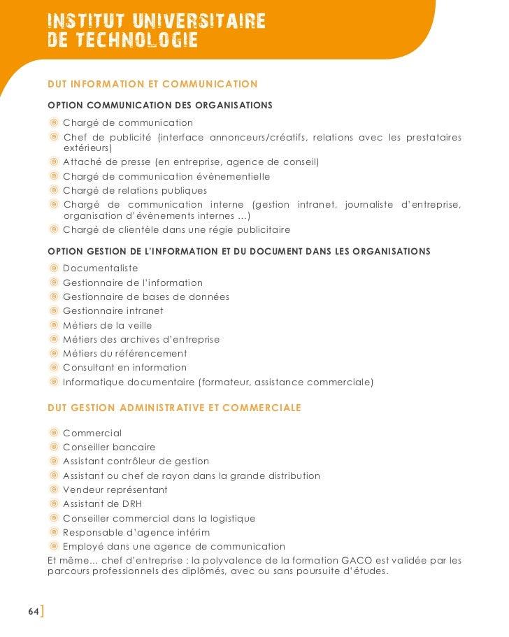 institut universitaire       de technologie       DUT information et communication       Option communication des organisa...