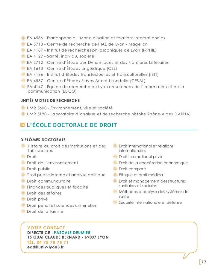 EA 4586 - Francophonie – Mondialisation et relations internationales  EA 3713 - Centre de recherche de l'IAE de Lyon - Mag...