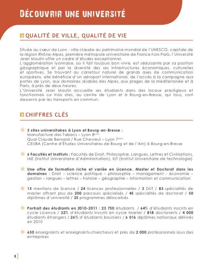 Decouvrir une universite         Qualité de ville, qualité de vie     Située au cœur de Lyon - ville classée au patrimoine...