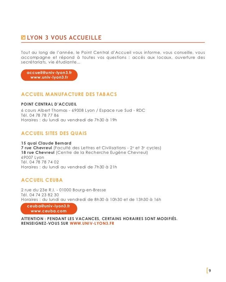 Lyon 3 vous accueilleTout au long de l'année, le Point Central d'Accueil vous informe, vous conseille, vousaccompagne et r...
