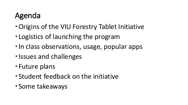 Mobile Technology Integration in an Applied Science Program: Forestry goes Paperless Slide 2