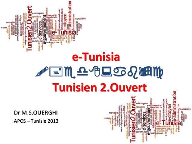 1e-Tunisia!+ed8:bcTunisien 2.OuvertDr M.S.OUERGHIAPOS – Tunisie 2013