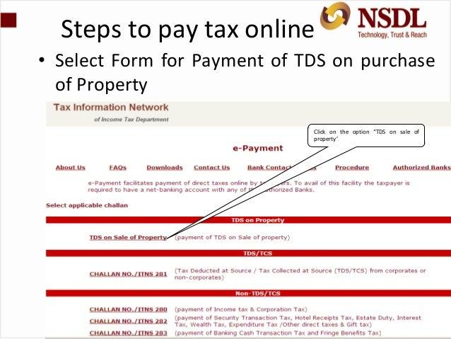 Form 26QB TDS on Property Sale