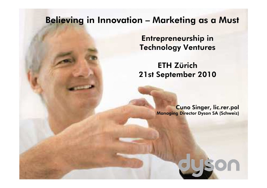 Believing in Innovation – Marketing as a Must                       Entrepreneurship in                      Technology Ve...