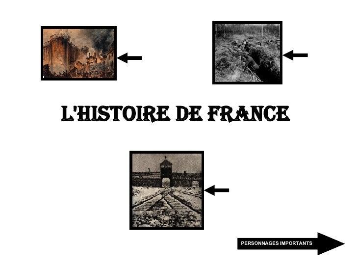 L'Histoire de France   PERSONNAGES IMPORTANTS