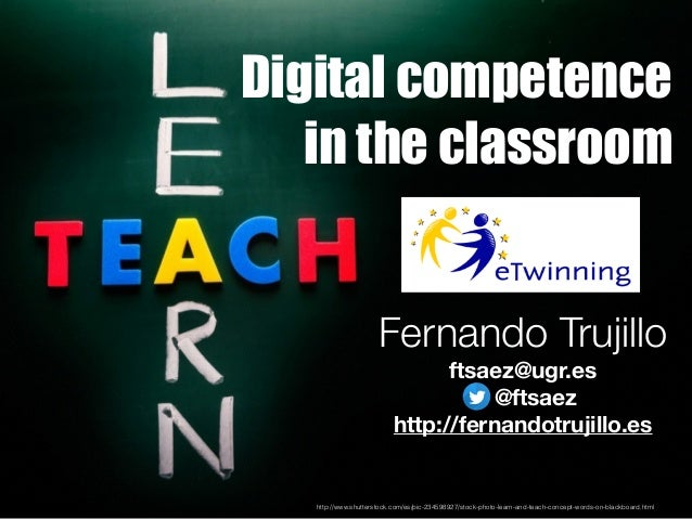 Digital competence in the classroom http://www.shutterstock.com/es/pic-234598927/stock-photo-learn-and-teach-concept-words...