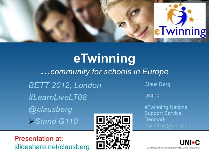 <ul><li>BETT 2012, London </li></ul><ul><li>#LearnLiveLT08 </li></ul><ul><li>@clausberg </li></ul><ul><li>Stand G110 </li>...