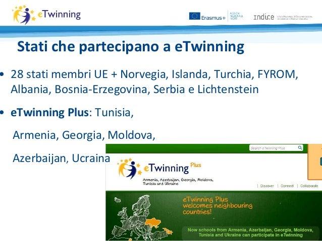 Stati che partecipano a eTwinning • 28 stati membri UE + Norvegia, Islanda, Turchia, FYROM, Albania, Bosnia-Erzegovina, Se...