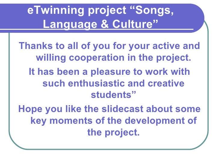 E twinning project Slide 2