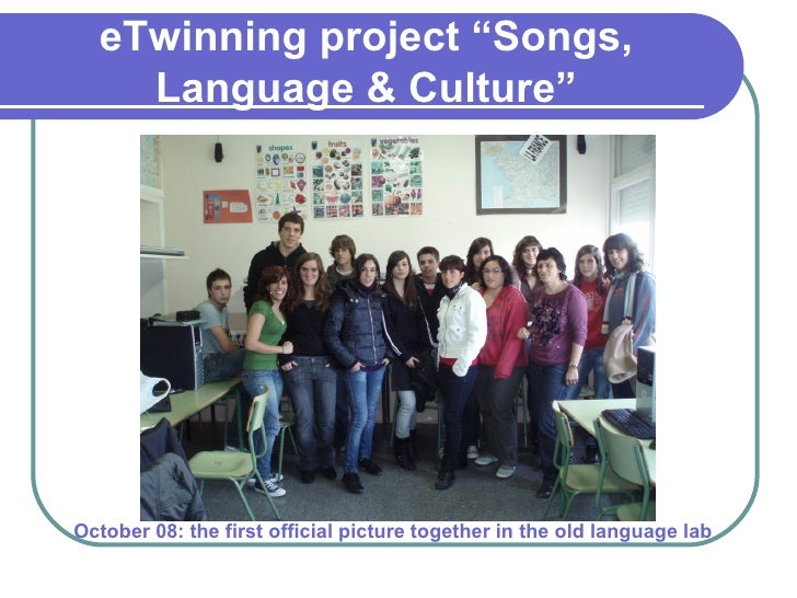 E twinning project Slide 3