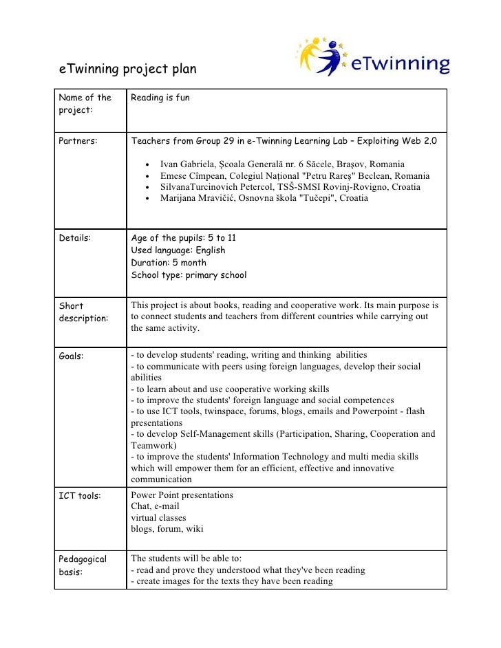 etwinning project planning form group 29