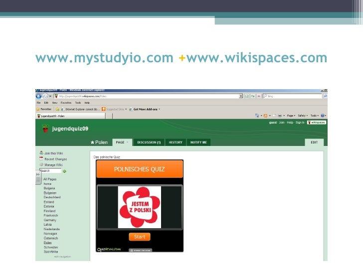 www.mystudyio.com +www.wikispaces.com