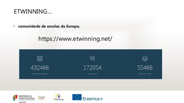ETWINNING… • comunidade de escolas da Europa. https://www.etwinning.net/