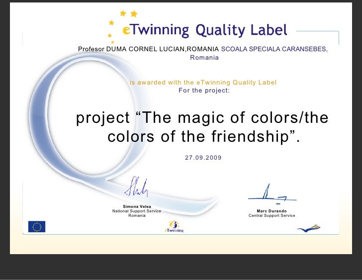 Profesor DUMA CORNEL LUCIAN,ROMANIA SCOALA SPECIALA CARANSEBES,                              Romania                   is ...