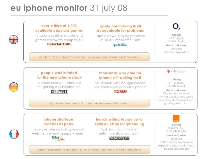 eu iphone monitor 31 july 08          over a third of 1,000                     apple not making itself       available ap...